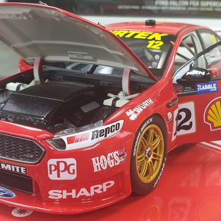 1/18 Ford Falcon FGX V8 Supercar 2018 Sandown Coulthard & D'Alberto Shell Racing
