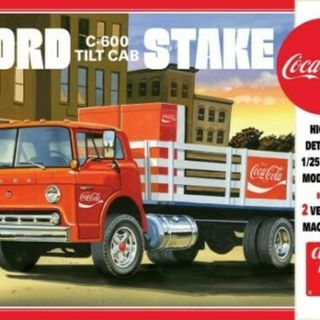 Ford C600 Stake Bed Truck Coca Cola AMT Kitset 1/25