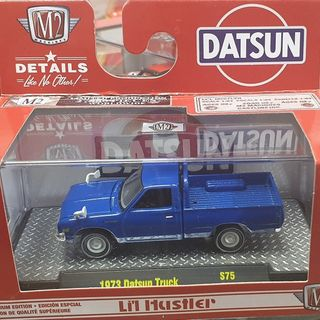 1973 Datsun Pickup Truck Blue 1/64 M2 Machines