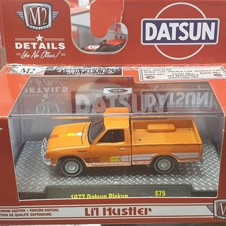 1977 Datsun Pickup Truck Orange 1/64 M2 Machines