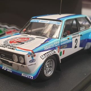 Fiat Abarth 131, 1980 Motogard Rally New Zealand Walter Rohrl 1/43 Trofeu