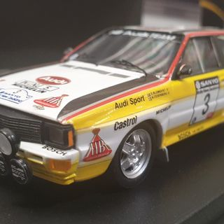 Audi Quattro A2, 1984 Sanyo Rally New Zealand Winner, Stig Blomqvist 1/43 Trofeu