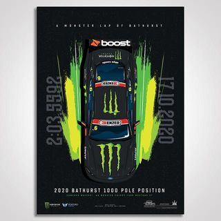 A Monster Lap Of Bathurst: Cameron Waters 2020 Bathurst 1000 Pole Limited Edition Illustrated Print