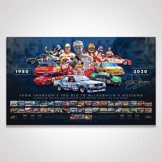 40th Anniversary of Dick Johnson Racing / DJR Team Penske Signed Limited Edition Print