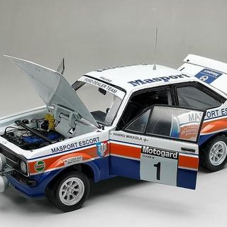 1/18 Masport Ford Escort RS1800, 1979 Rally New Zealand Winner, Hannu Mikkola & Arne Hertz