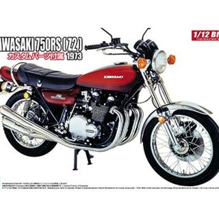1973 Kawasaki 750RS Z2 with custom parts Aoshima Kitset 1/12