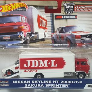 Hot Wheels Nissan Skyline HT 2000GT-X on a Sakura Sprinter Truck