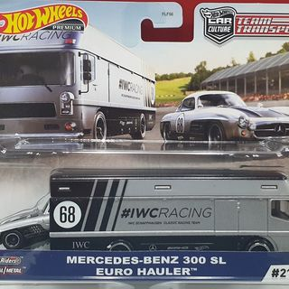 Hot Wheels Mercedes-Benz on a Euro Hauler Truck