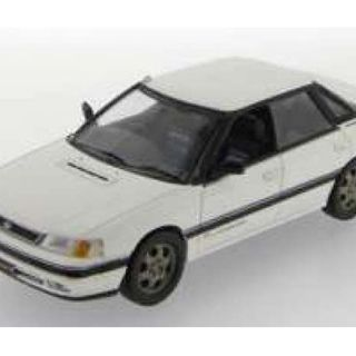 1989 Subaru Legacy 2.0 Turbo RS Type RA, White Roadcar 1/43 IXO