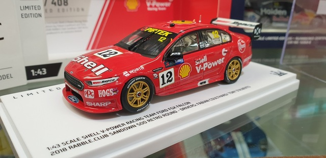 1/43 Ford Falcon FGX V8 Supercar 2018 Sandown Coulthard & D'Alberto Shell Racing