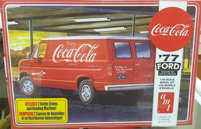 1977 Ford Delivery Van Coca Cola AMT Kitset 1/25 with engine