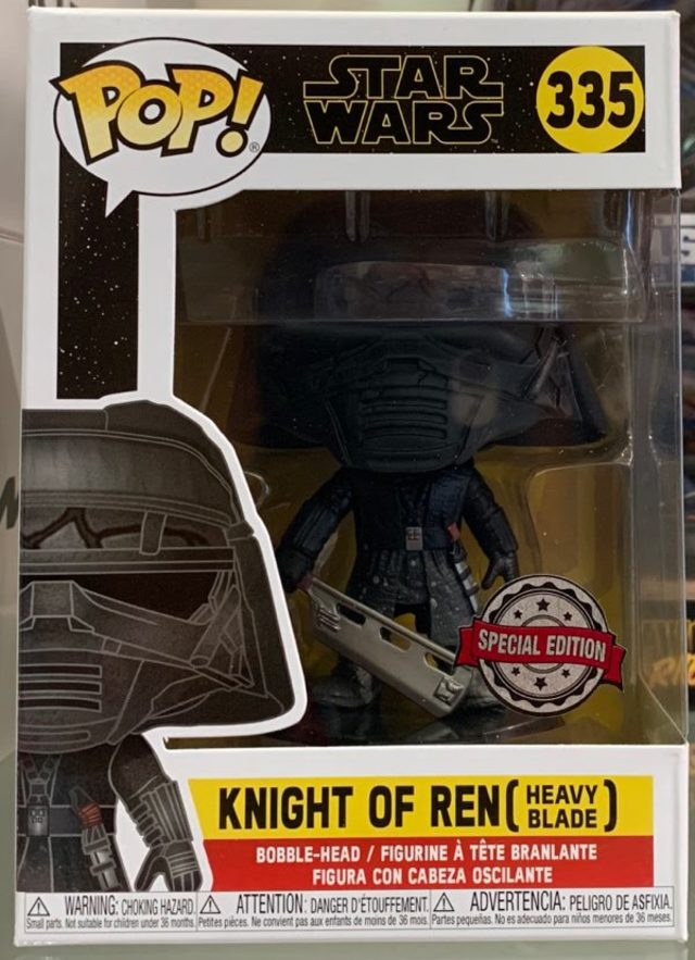 Funko Pop Vinyl #335 Star Wars - Knight of Ren (heavy blade) special edition