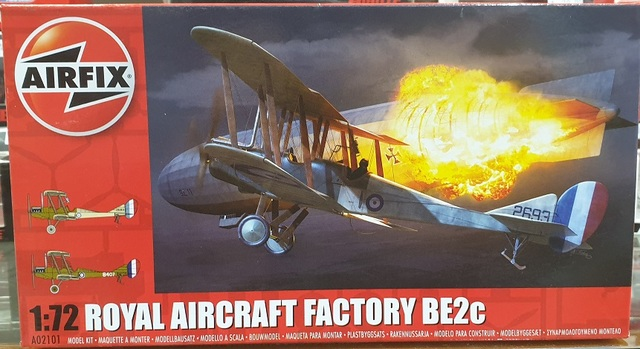 Royal Aircraft Factory BE2c Fighter Plane Kitset 1/72 Airfix