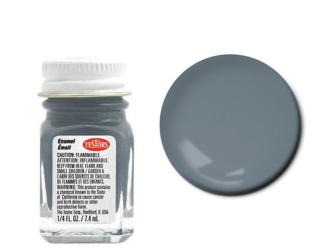 Testors Enamel: Flat Battle Gray 1163