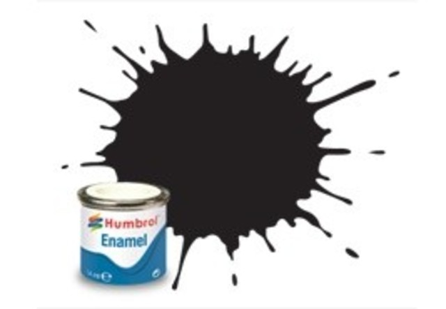 Humbrol #33 Black Matt - 14ml Enamel Paint