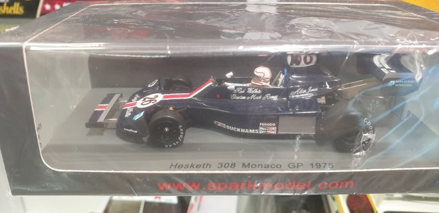 Hesketh Ford 308 1975 Monaco F1 GP Alan Jones 1/43 Spark
