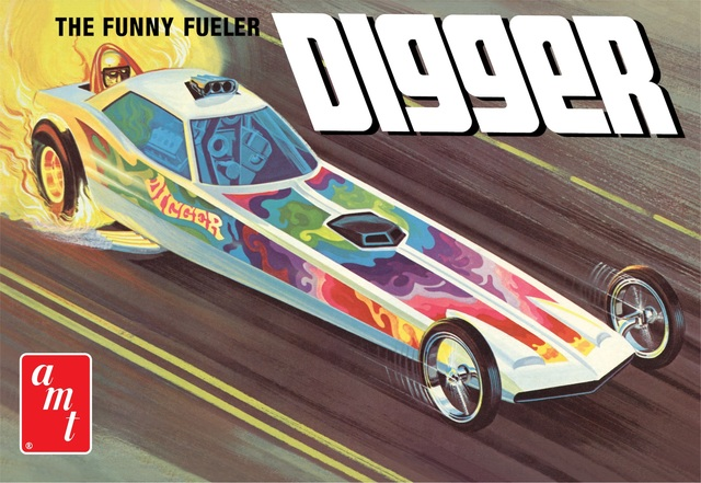 Digger Dragster 'Funny Fueler' AMT Kitset 1/25 with engine