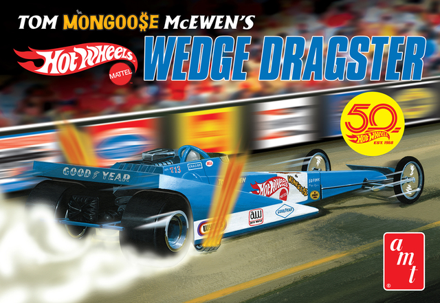 Tom 'Mongoose' McEwen Fantasy Wedge Dragster Hot Wheels AMT Kitset 1/25 with engine