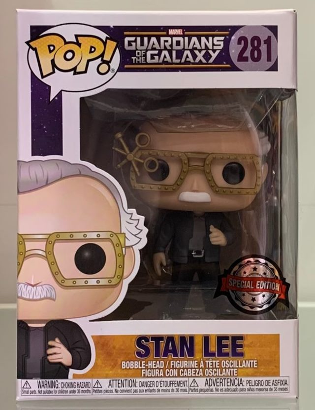 Funko Pop Vinyl #281 Marvel Guardians of the Galaxy - Stan Lee (special edition)
