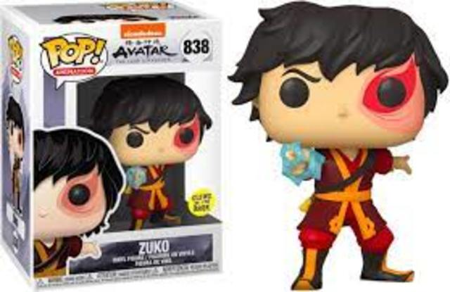 Funko Pop Vinyl: #838 The Last Avatar- Zuko with Lightning (Glow in the Dark)